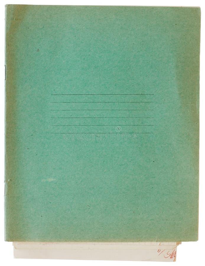 зеленый цвет тренировки крышки книги старый стоковая фотография rf