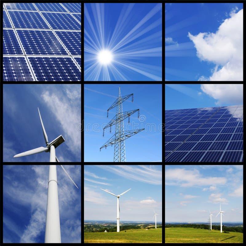 зеленый цвет энергии коллажа стоковые фото
