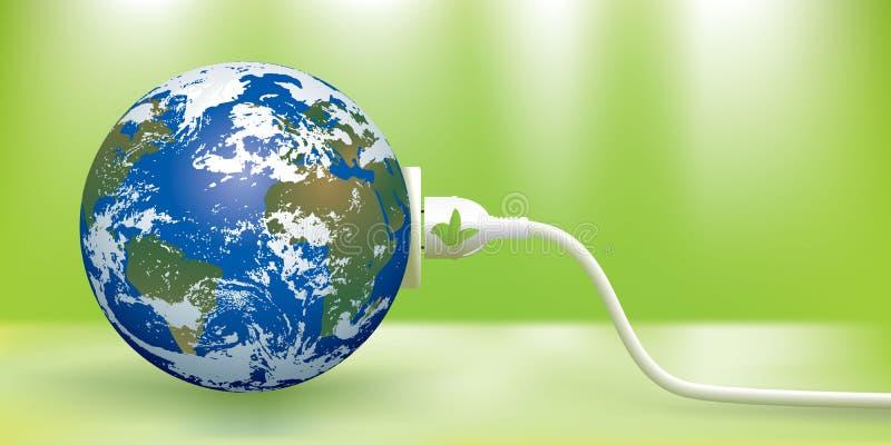 зеленый цвет энергии принципиальной схемы иллюстрация вектора