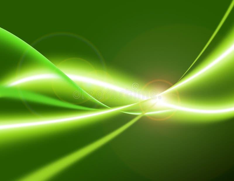 зеленый цвет энергии иллюстрация вектора