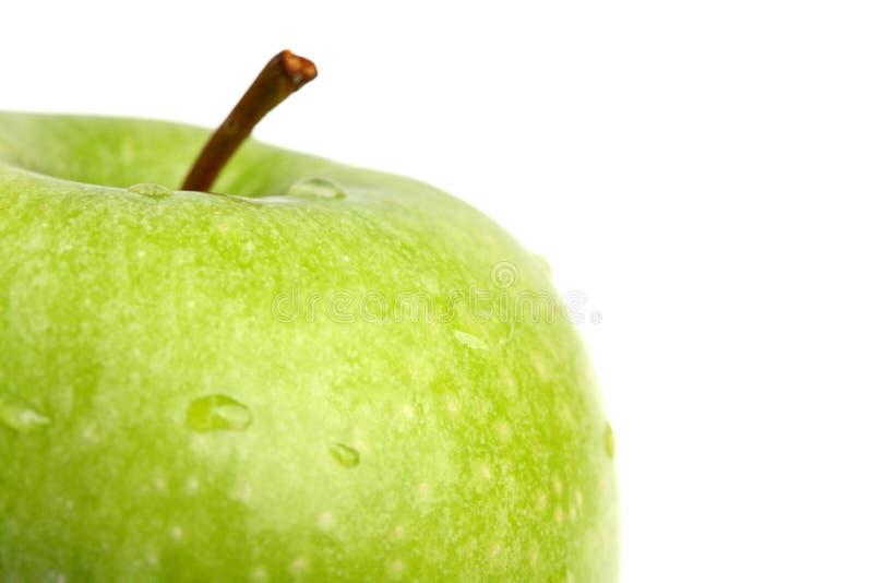 зеленый цвет яблока большой близкий вверх стоковая фотография rf