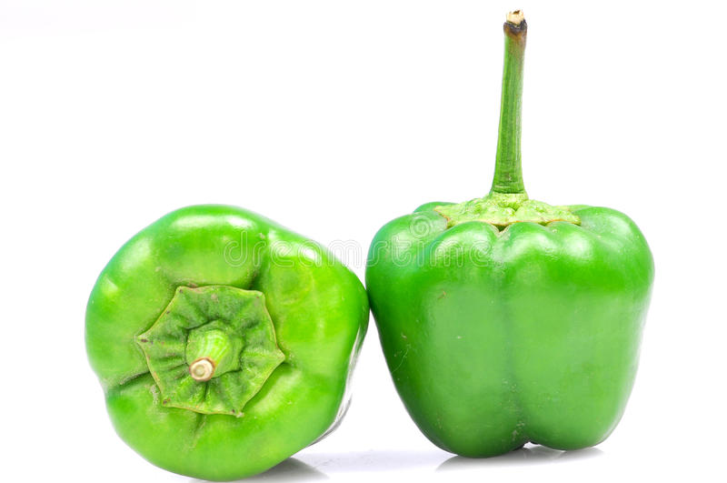 зеленый цвет capsicum стоковое фото rf