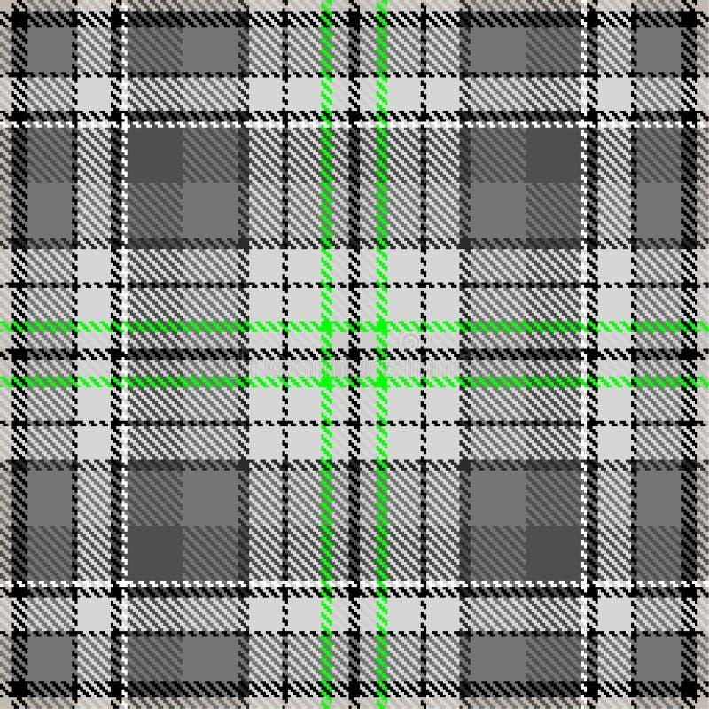 Зеленый цвет checkered ткани моды картины ткани серый стоковое изображение