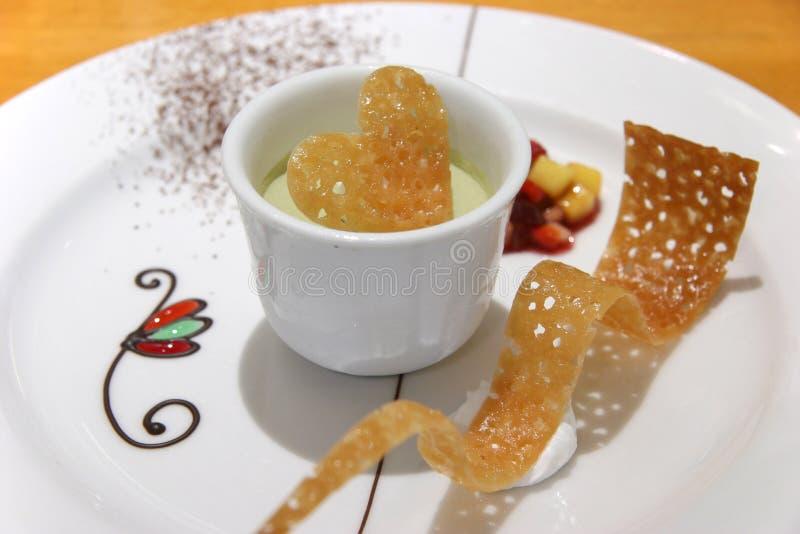 зеленый чай parfait стоковая фотография rf