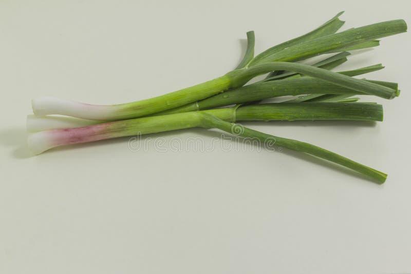 Зеленый чеснок от собственного сада стоковое фото