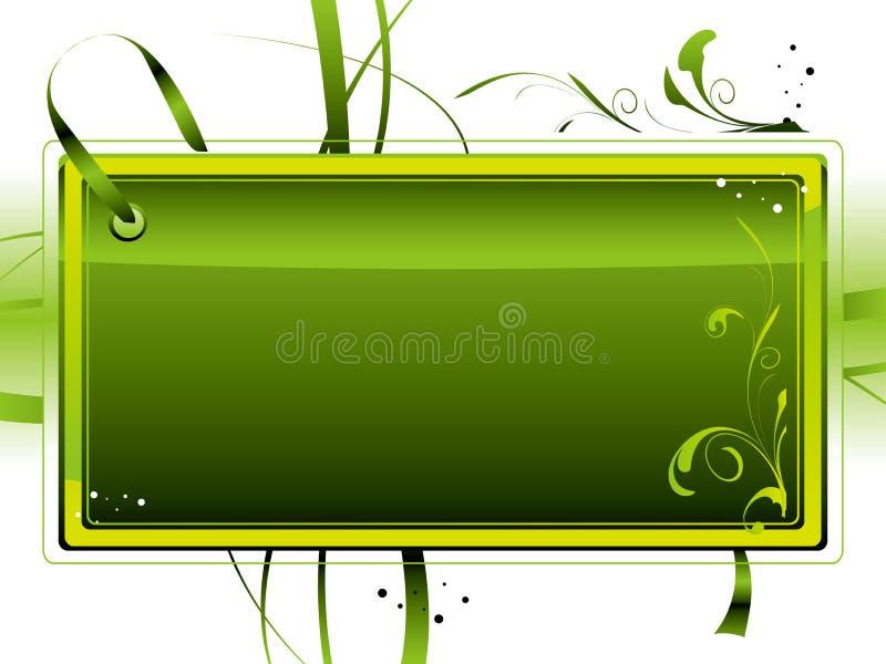 зеленый ярлык иллюстрация вектора
