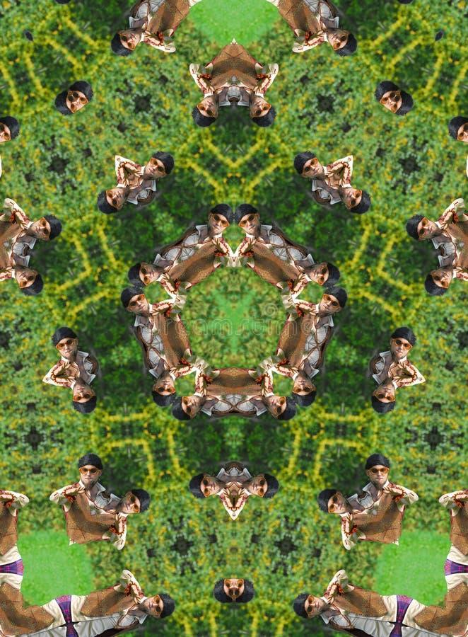 зеленый kaleidoscope стоковая фотография rf
