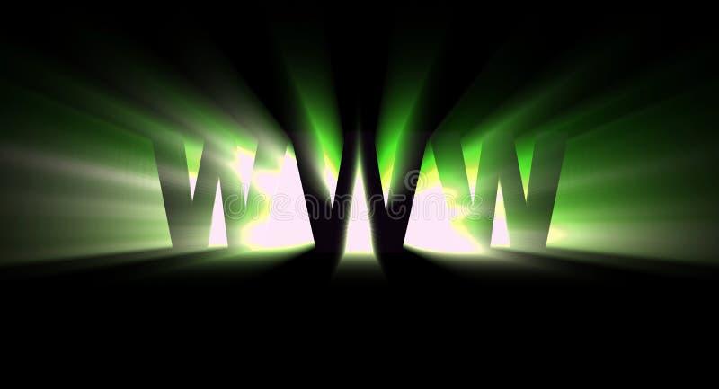 зеленый www иллюстрация вектора