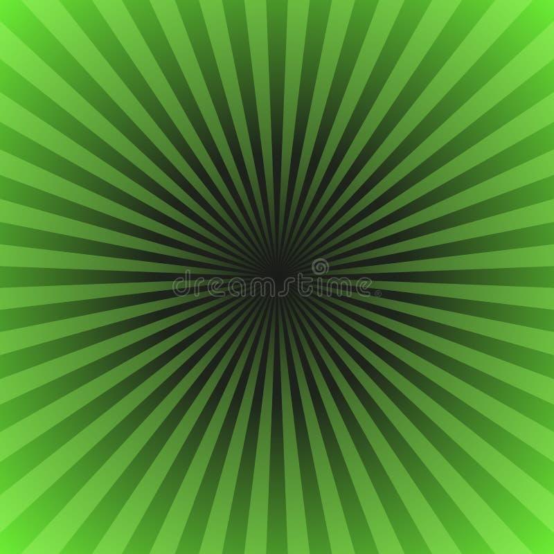_зелен градиент луч разрывать предпосылк - векторная графика от радиальн луч бесплатная иллюстрация