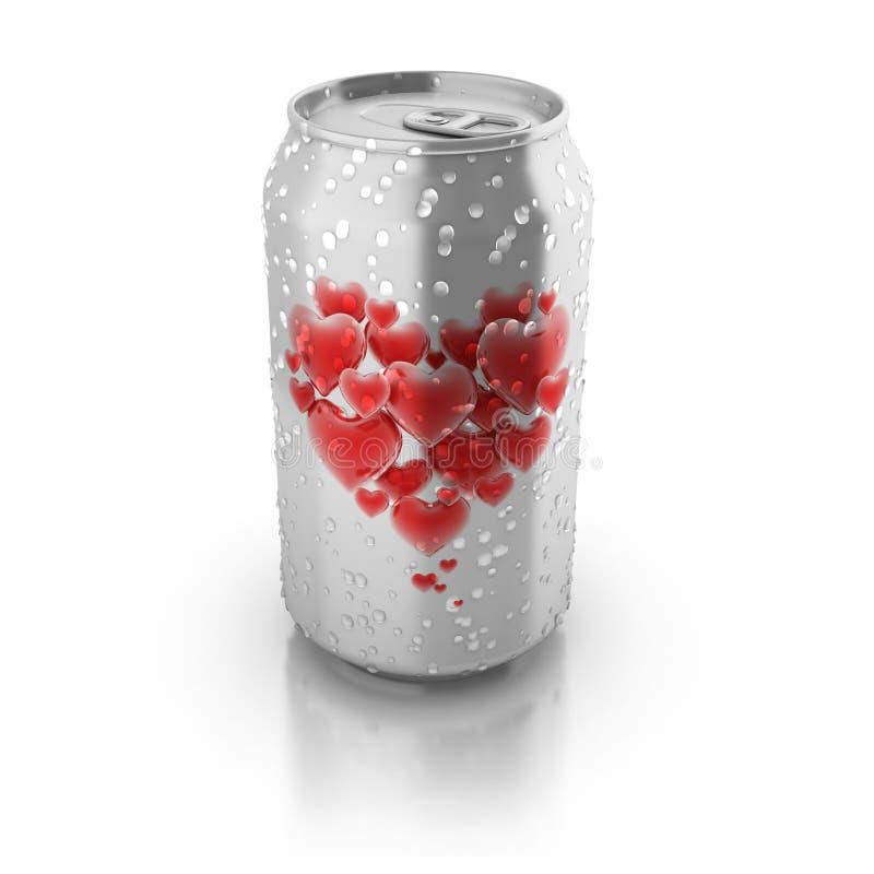 зелье влюбленности принципиальной схемы 3d иллюстрация штока
