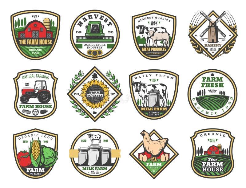 Земледелие дома фермы, обрабатывая землю продукты питания бесплатная иллюстрация