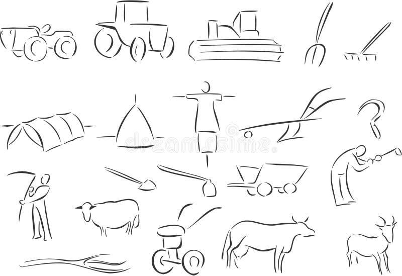 земледелие иллюстрация штока