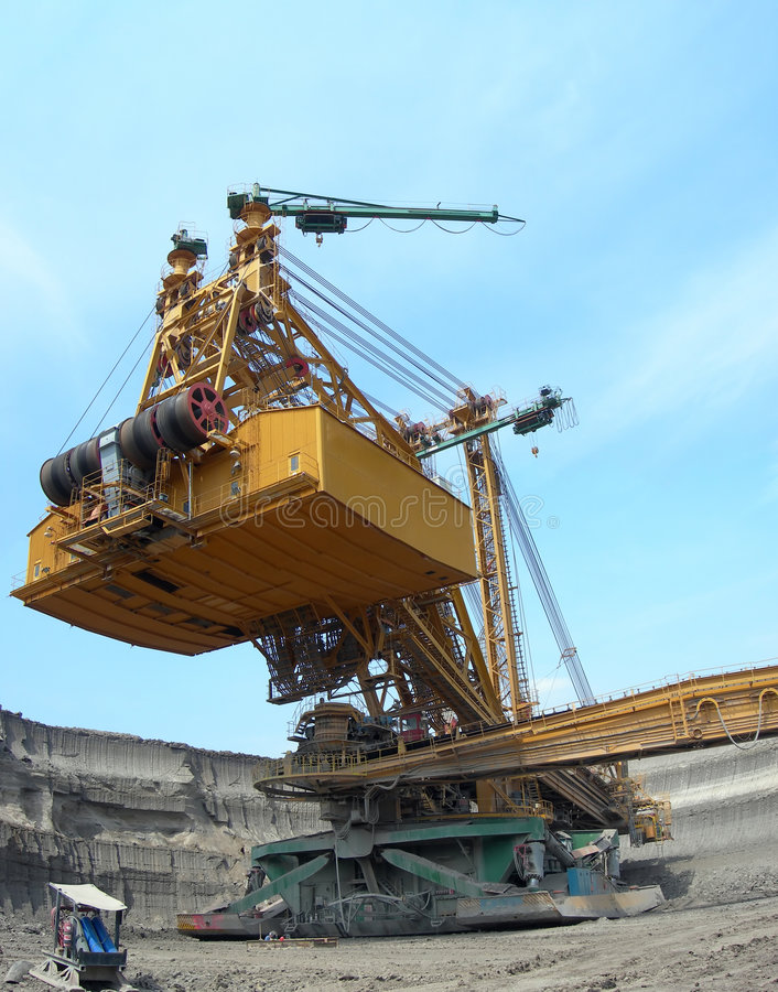 землекоп угля действия стоковое изображение rf