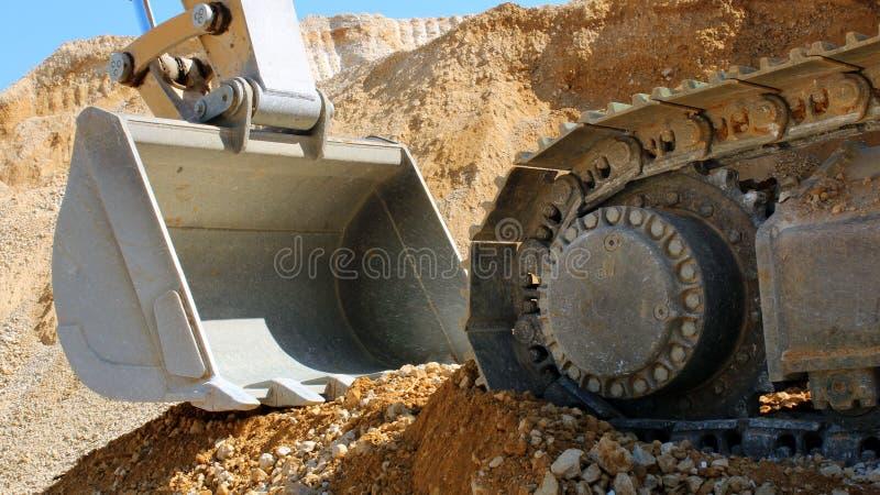 Землекоп crawler землечерпалки стоковое фото rf