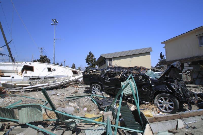 землетрясение восточная большая япония стоковые фото