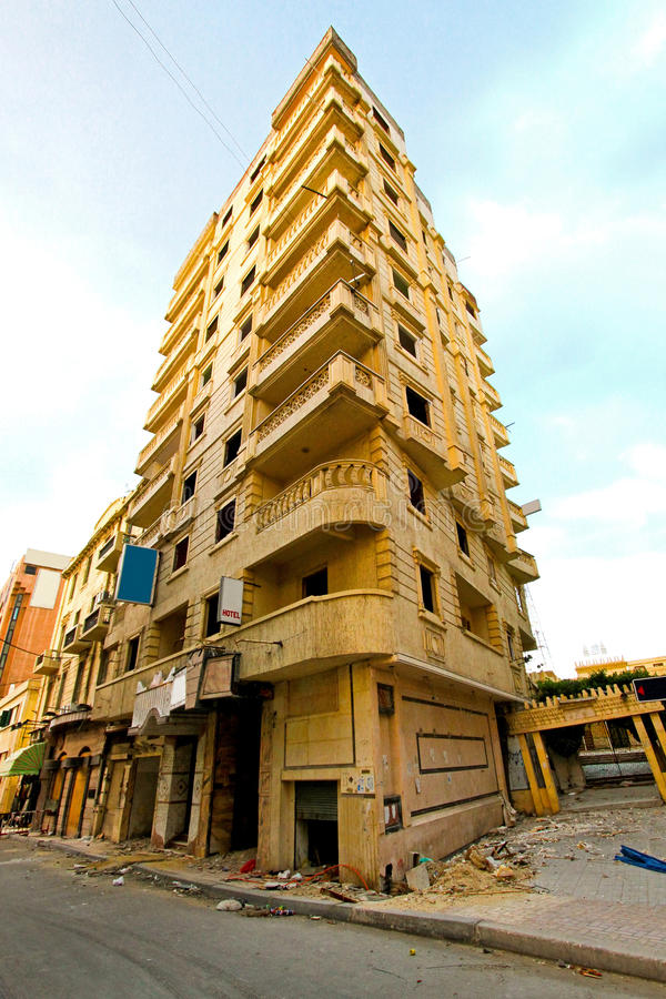 землетрясение здания стоковое фото