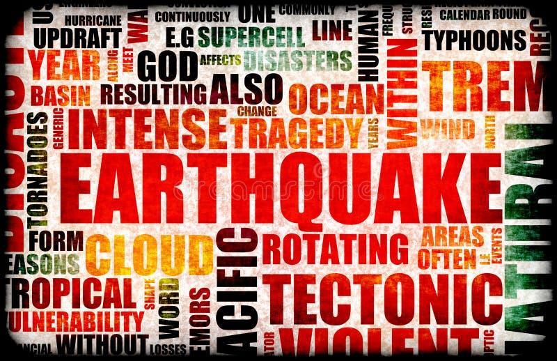 землетрясение иллюстрация вектора