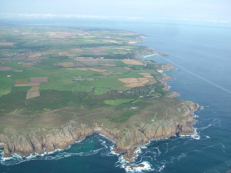 земли конца береговой линии стоковая фотография