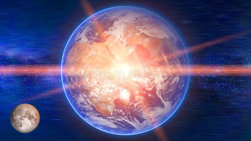 Земля в планете космоса красивой голубой стоковая фотография rf