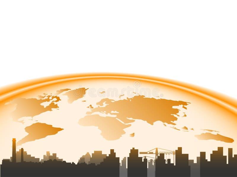 земля города иллюстрация вектора