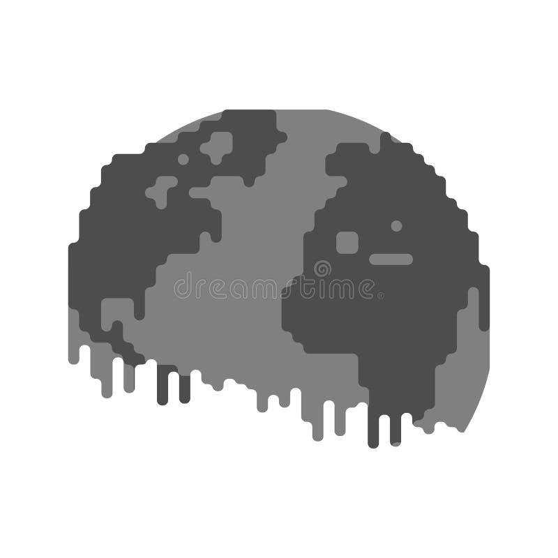 Земля загрязнения черная планета Ядовитый отход Экологический po иллюстрация штока