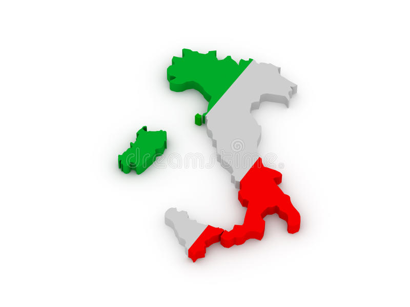 Земля Италии иллюстрация штока
