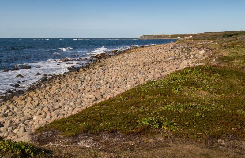 земля и море Gros Morne стоковое изображение