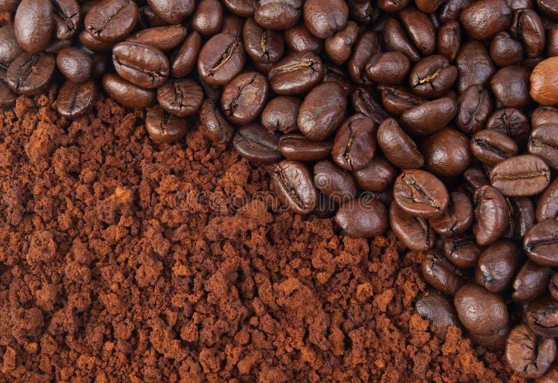 земля кофе фасоли стоковые фотографии rf