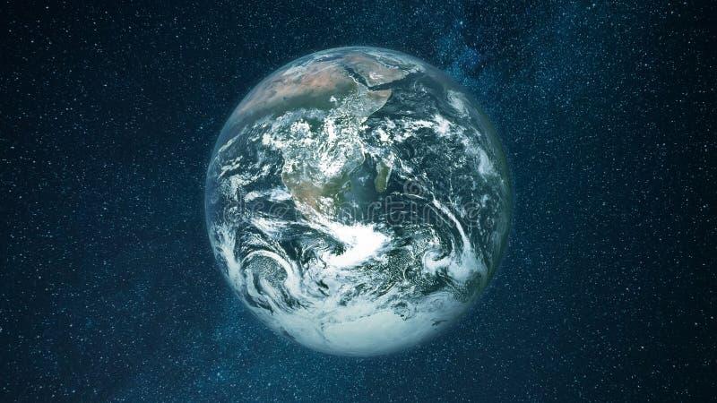 Земля планеты Взгляд от космоса стоковые фото