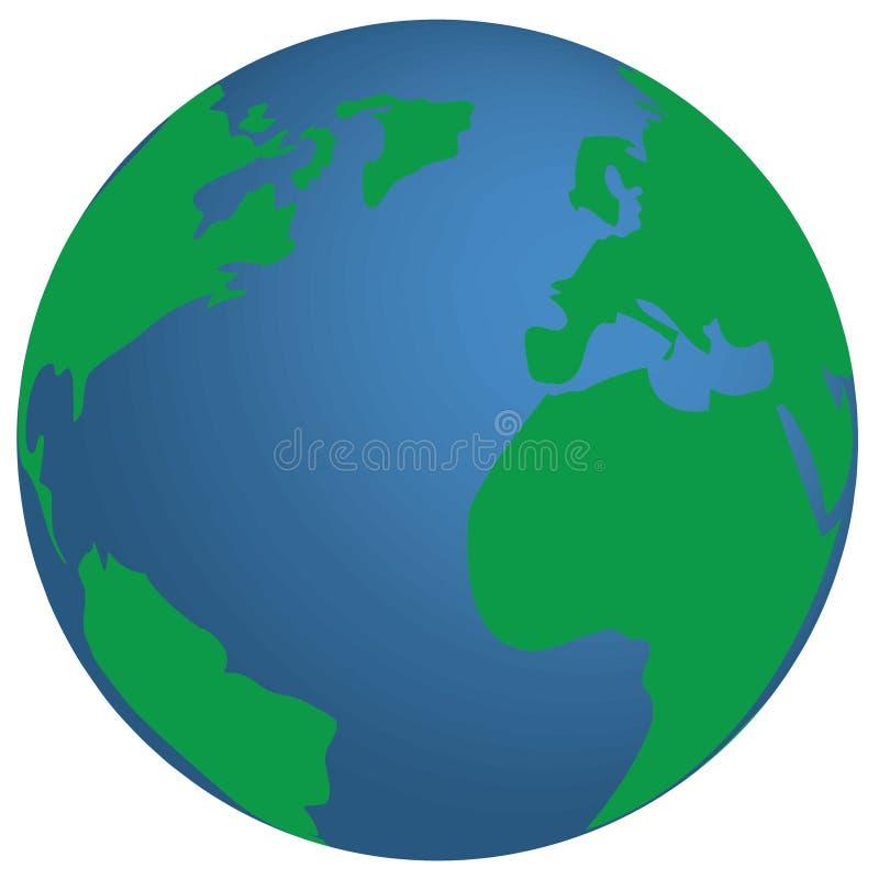Земля планеты голубая и зеленая стоковое изображение