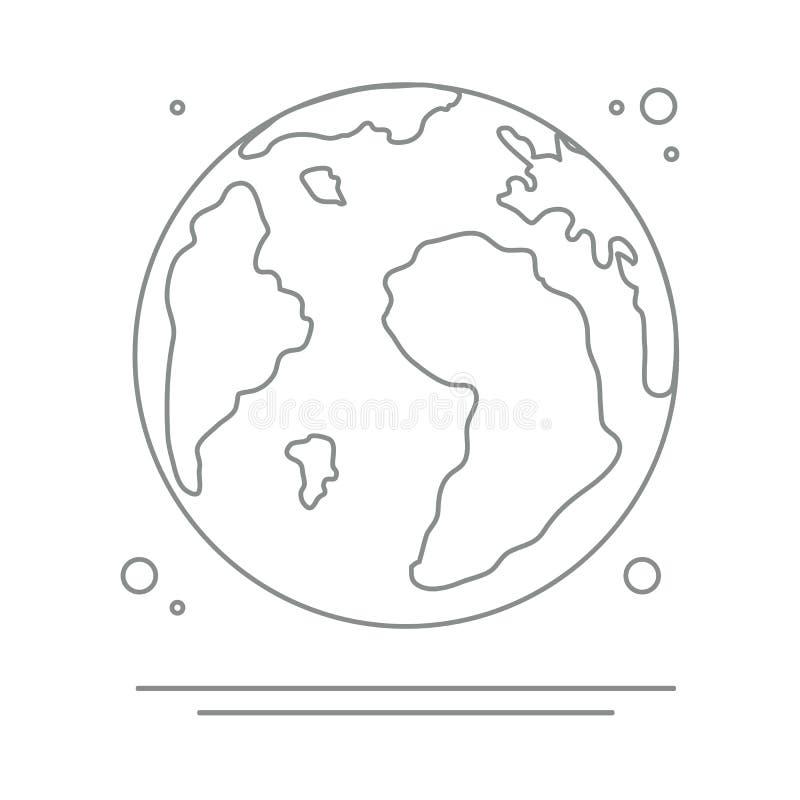 Земля планеты Значок вектора мира r иллюстрация вектора