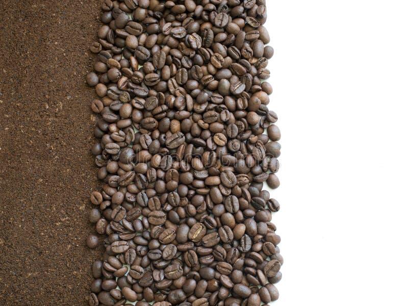 Земной кофе для взгляда сверху предпосылки или открытки стоковые изображения rf