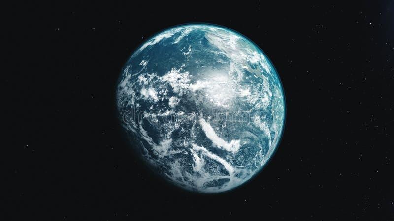 Земные орбиты сини диаграммы движения и белых планеты вокруг Солнца иллюстрация штока
