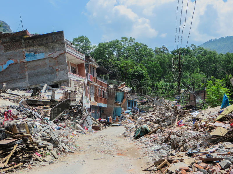 Землетрясение Непала стоковые фото
