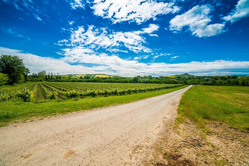 Земледелие на холмах Тосканы и Romagna Apennines стоковое фото