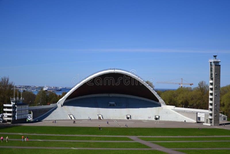 Земли фестиваля песни в Таллине стоковые изображения rf