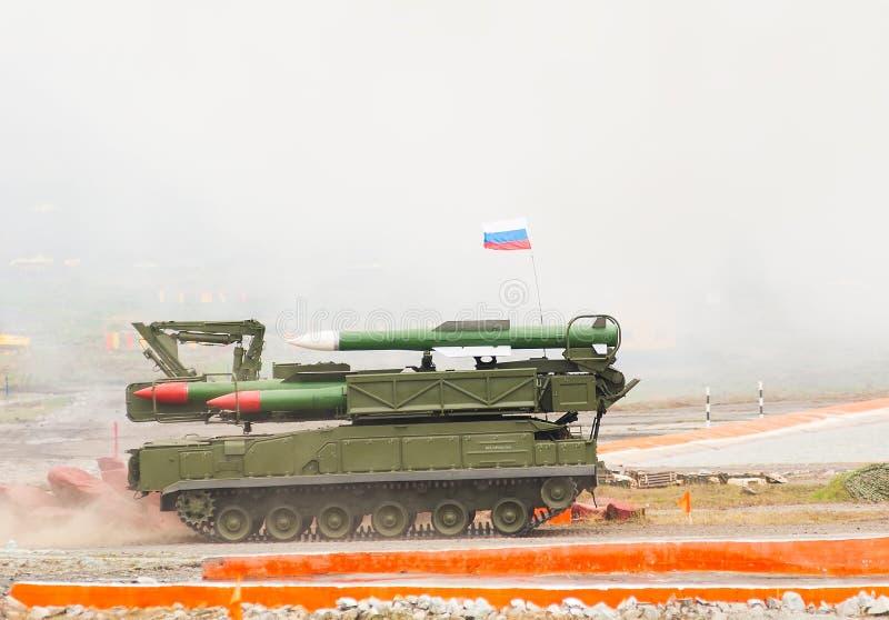 Земл ракетные комплексы Buk-M1-2 стоковые изображения rf