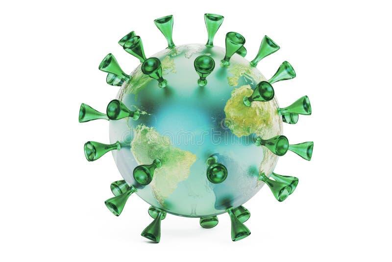 Земля вируса, перевод 3D бесплатная иллюстрация