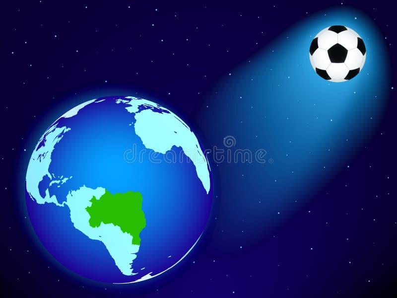 Земля и шарик иллюстрация вектора