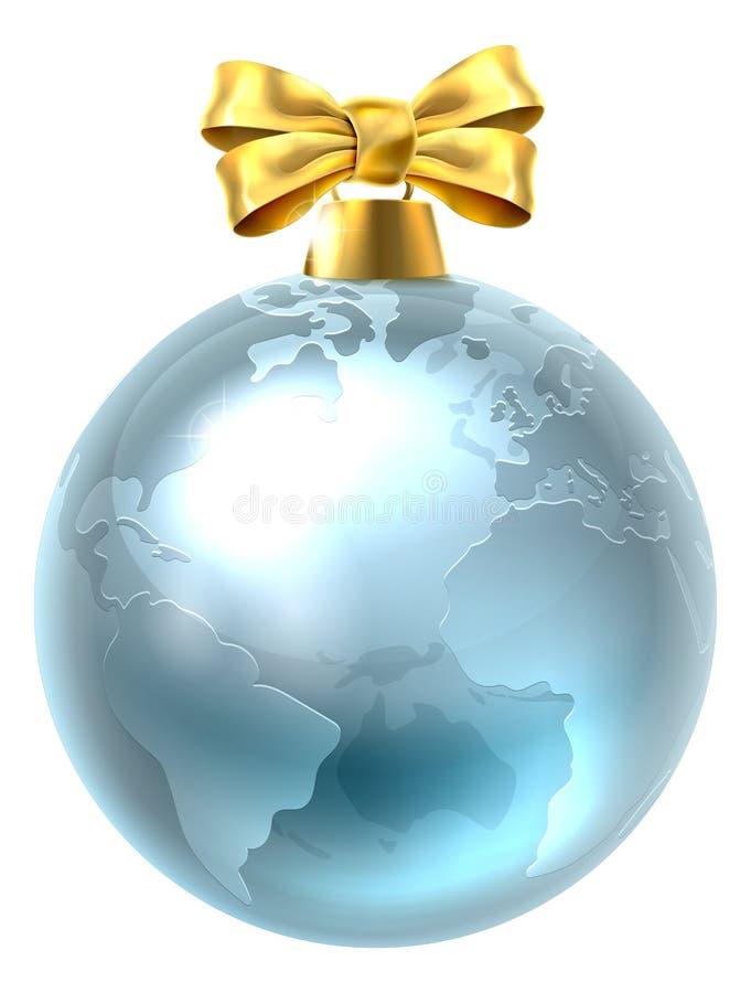 Земля мира глобуса безделушки рождества бесплатная иллюстрация
