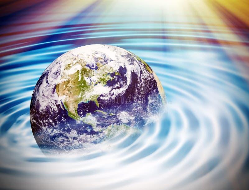 Земля под водой - элементами этого изображения поставленными NASA бесплатная иллюстрация