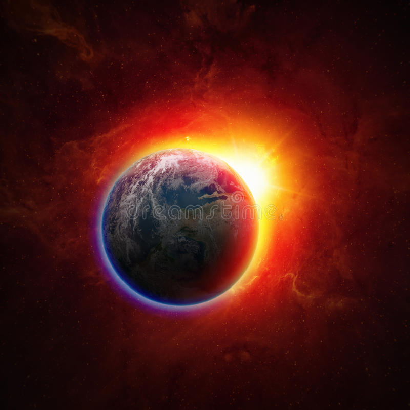 Земля планеты в космосе стоковое фото