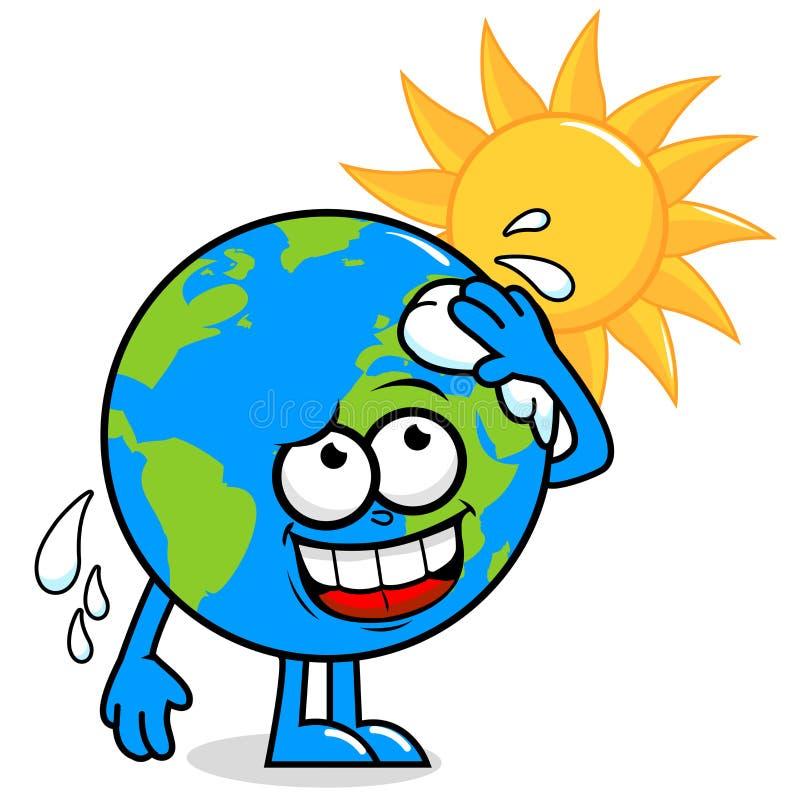 Земля планеты получая горячий бесплатная иллюстрация