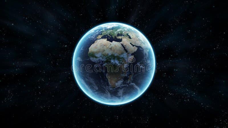 Земля с звездами иллюстрация вектора