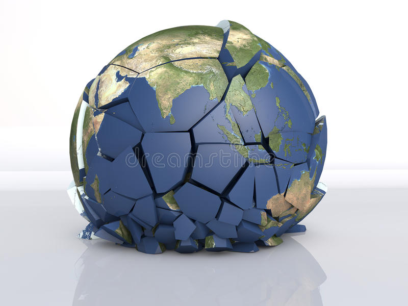 земля трещиноватости 3D иллюстрация вектора