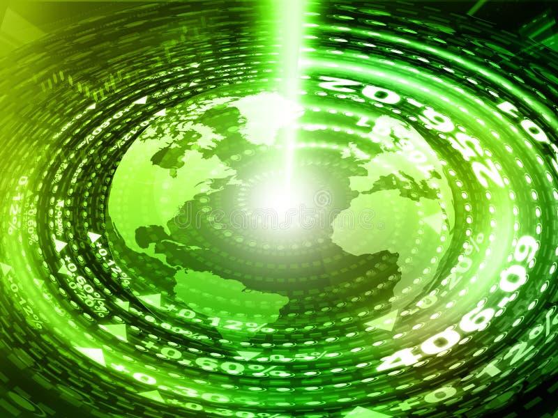 Земля цифров с волоконной оптикой стоковая фотография rf