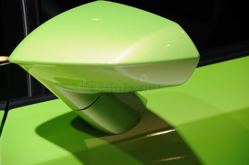 Зеркало крыла автомобиля Lamborghini стоковые изображения