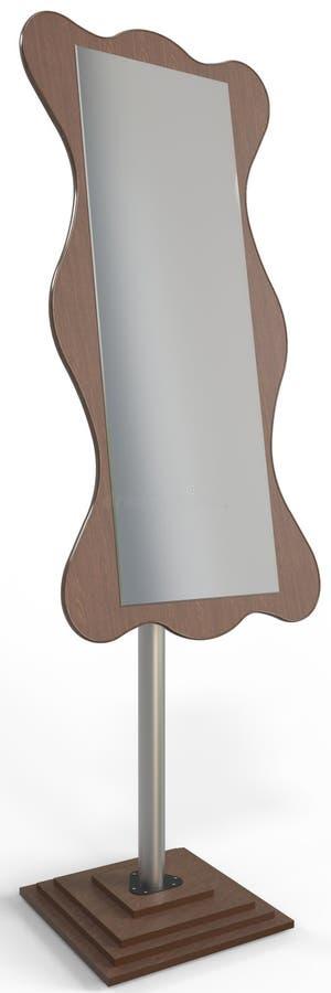 Зеркало платья или свободное стоящее зеркало Cheval стоковые изображения