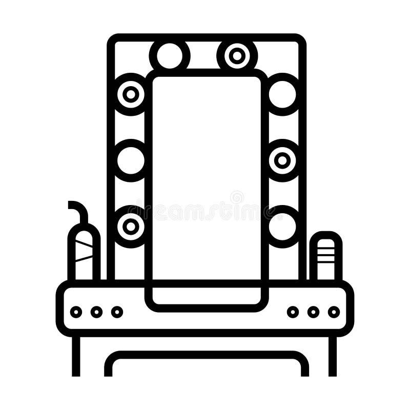 зеркало с значком зеркала иллюстрация вектора