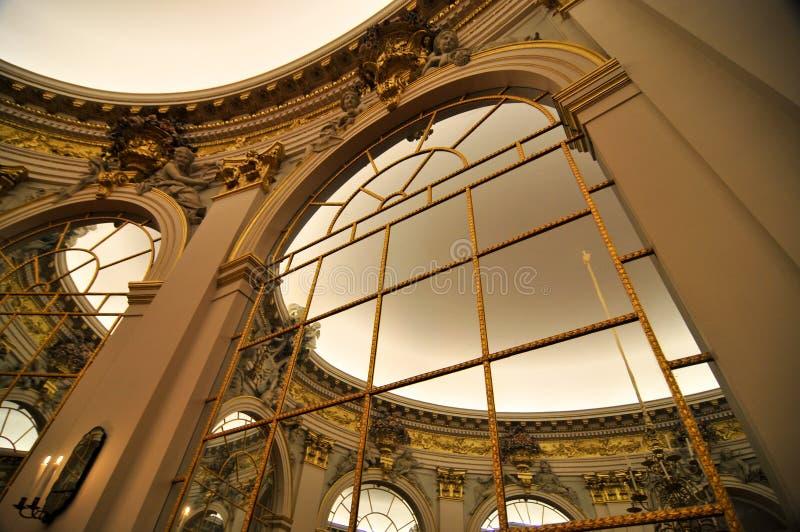 Зеркала дворца Charlottenburg стоковая фотография rf
